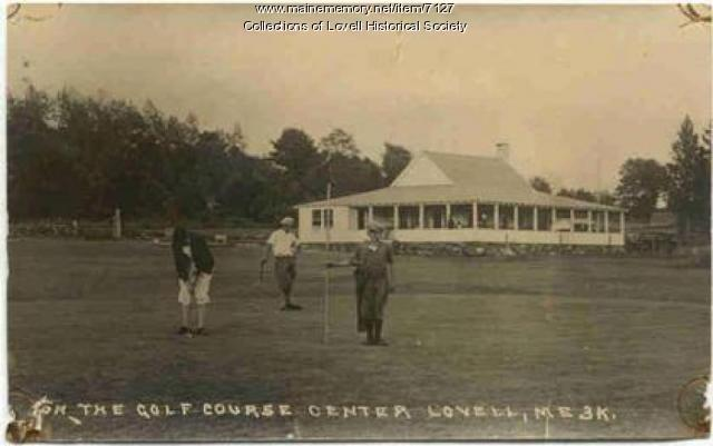 Golfers on the Lake Kezar Golf course, ca. 1924