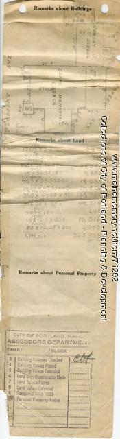 Assessor's Record, 1-11 Pleasant Avenue, Portland, 1924