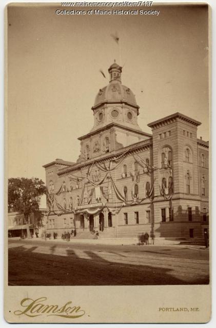 City Hall, Portland, 1885