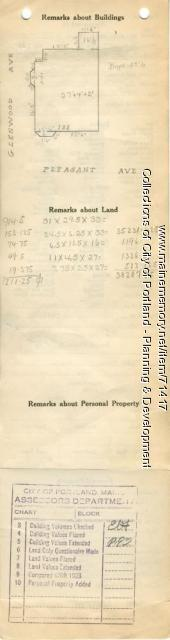 128-134 Pleasant Avenue, Portland, 1924