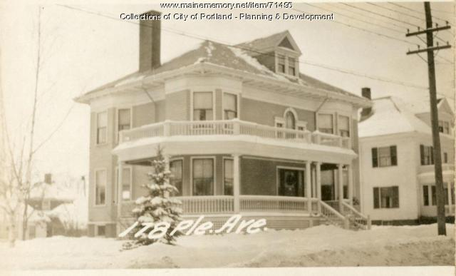 178 Pleasant Avenue, Portland, 1924