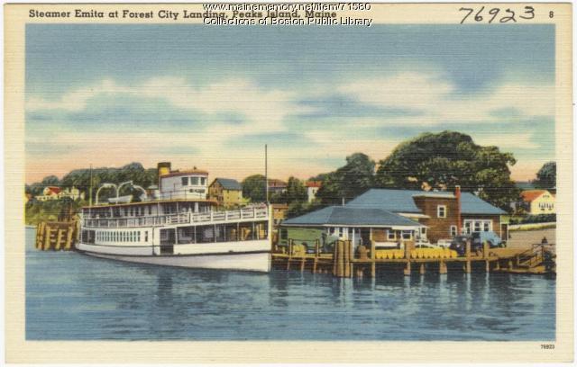 Steamer Emita, Peaks Island, ca. 1938