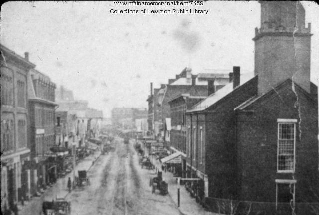 Lisbon Street, Lewiston, ca. 1890