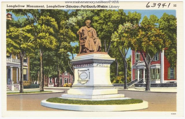 Longfellow Monument, Portland, ca. 1938