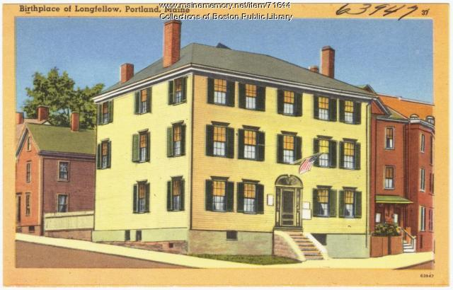 Birthplace of Longfellow, Portland, ca. 1928