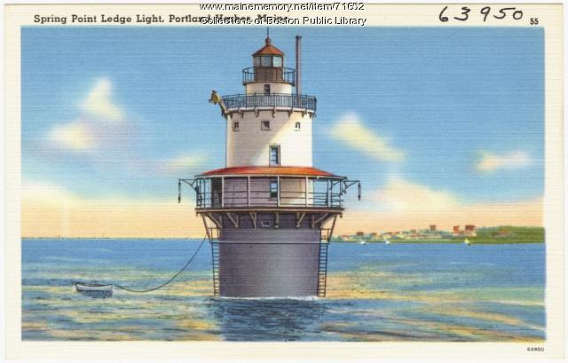 Spring Point Ledge Light, Portland Harbor, ca. 1938