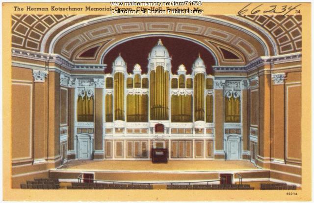 The Herman Kotzschmar Memorial Organ, Portland, ca. 1928