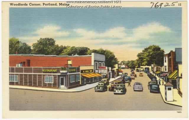 Woodfords Corner, Portland, ca. 1938