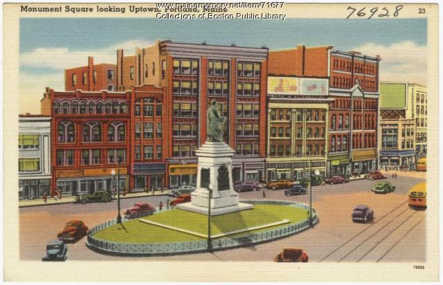 Monument Square, Portland, ca. 1938
