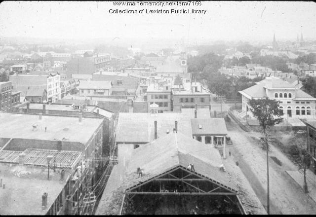Downtown Lewiston, early 1900s
