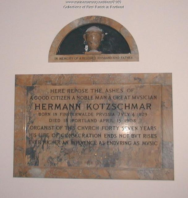 Columbarium and tablet, First Parish, Portland, Unitarian Universalist