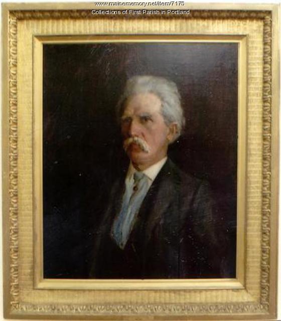 Painting of Hermann Kotzschmar, Portland, 1895