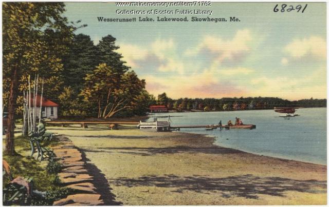 Wesserunsett Lake, Madison, ca. 1938