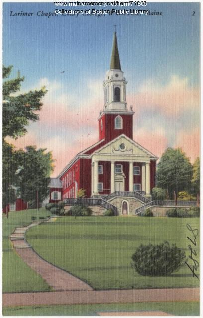 Lorimer Chapel at Colby College, Waterville, ca. 1945