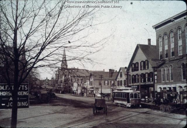 Main Street in Lewiston, ca. 1900