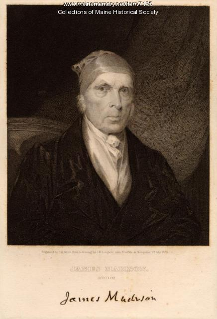 James Madison, ca. 1833
