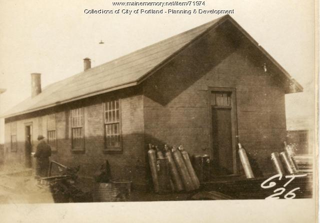 Shop, Presumpscot Street (rear), Portland, 1924