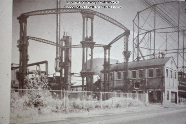 Gas Patch near mills in Lewiston, ca. 1950