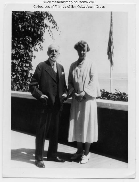 Cyrus H.K. Curtis and his daughter Mary Louise