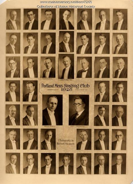 Portland Men's Singing Club, 1926