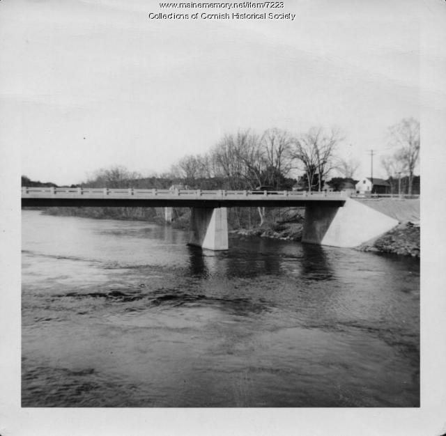 Station Bridge over the Saco from Cornish to West Baldwin, 1936