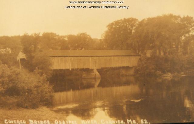 Bridge between Cornish and South Hiram - original covered bridge