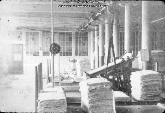 Raw cotton, Lewiston, ca. 1900