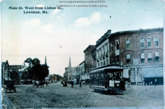 Main Street West from Lisbon Street, Lewiston