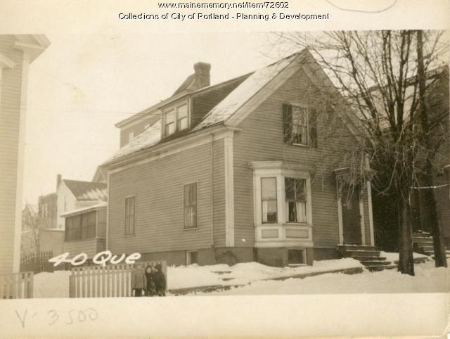 38 Quebec Street, Portland, 1924