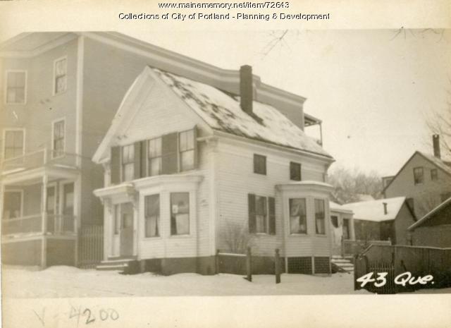 43 Quebec Street, Portland, 1924