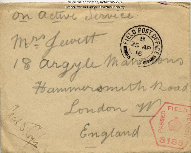 Envelope of World War I letter