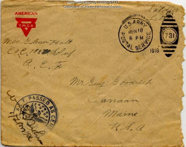 World War 1 envelope with censor stamp