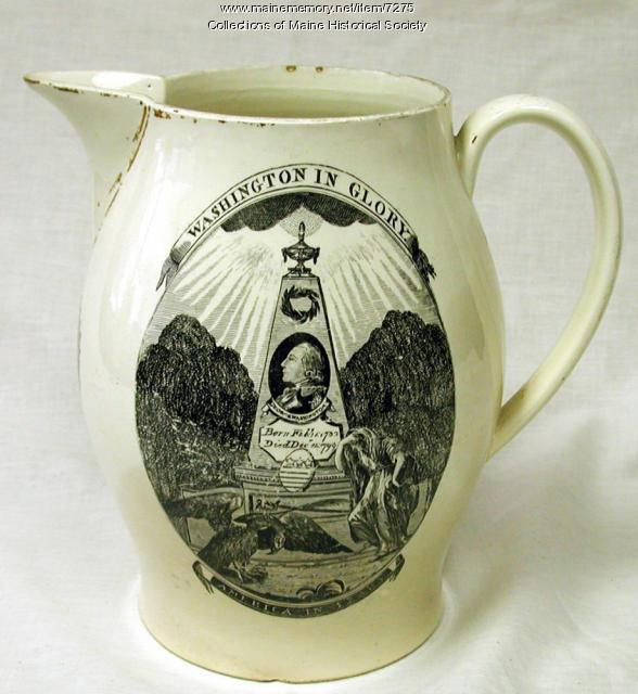 George Washington commemorative pitcher