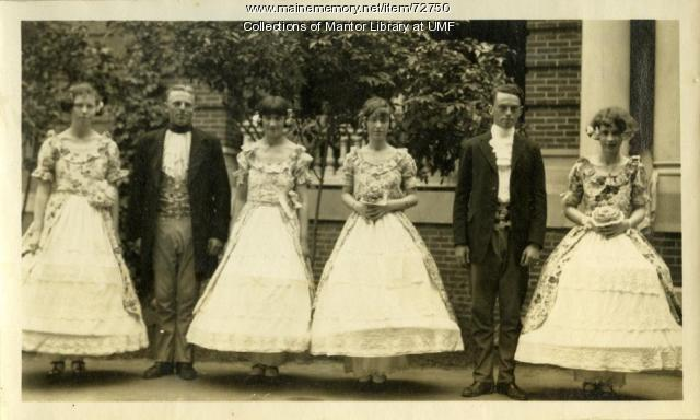 """Springtime"" cast photo, Farmington State Normal School, 1925"