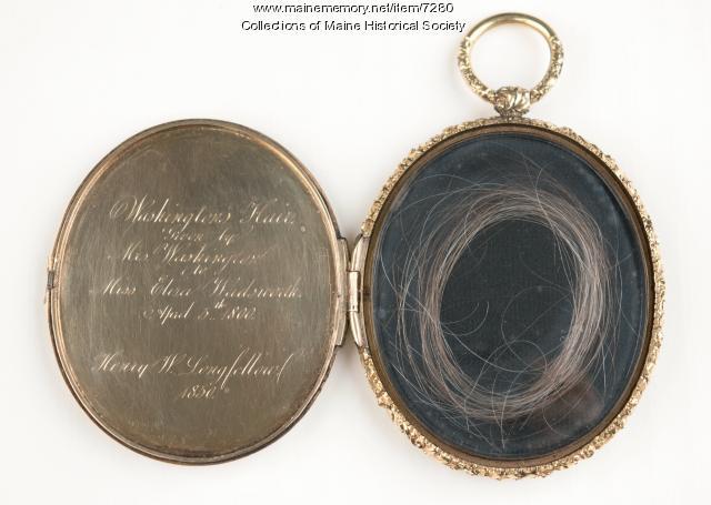 Locket of George Washington's hair