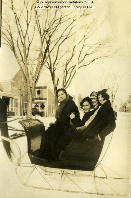 Sleigh Ride, Farmington State Normal School, ca. 1929