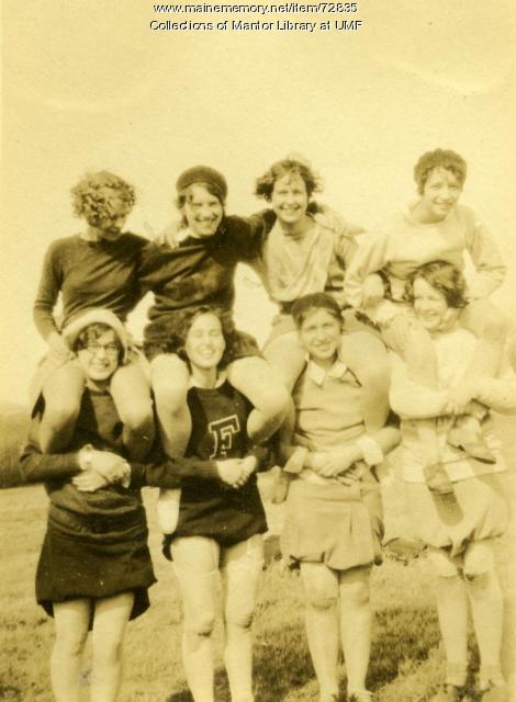 Pyramid of Pals, Farmington State Normal School, ca. 1929