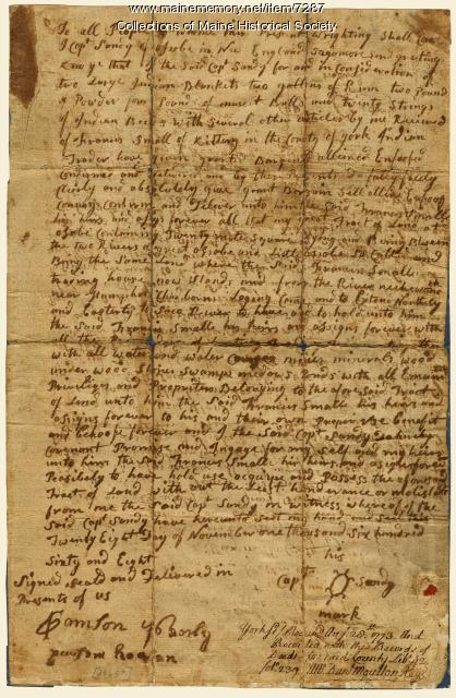 Wesumbe deed, Nov. 28, 1668