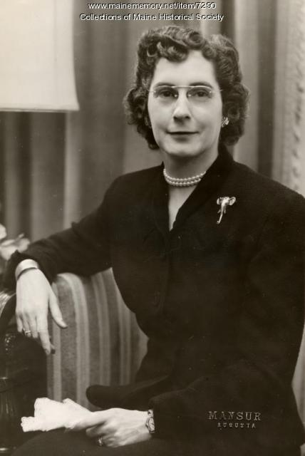 First Lady Olena M. Cross, ca. 1952