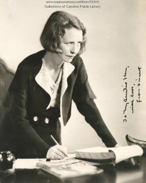 Edna St. Vincent Millay, New York, ca. 1935
