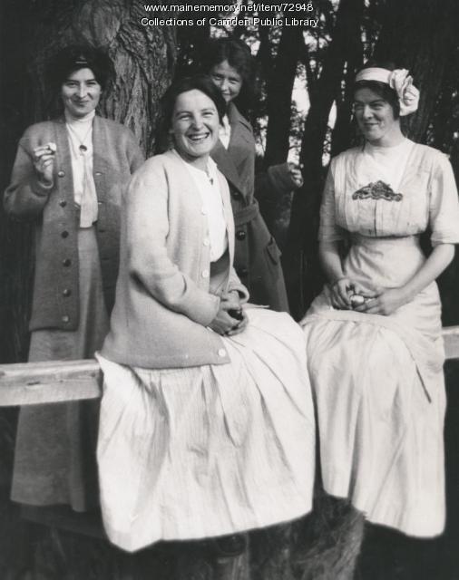 Millay and three friends, ca. 1908