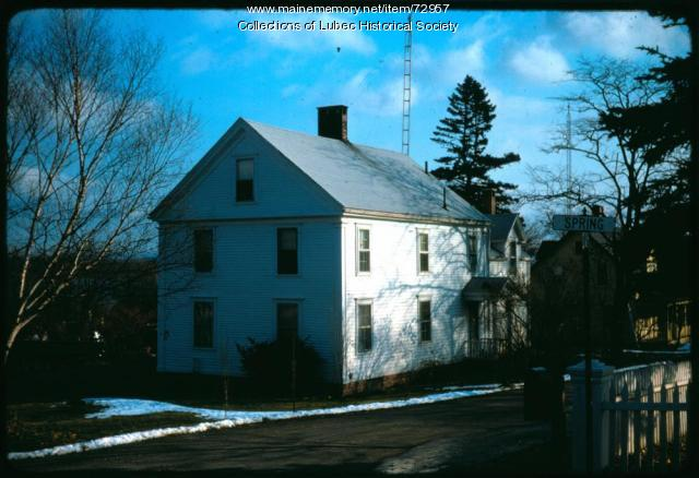 House at 2 Spring Street, Lubec, 1975