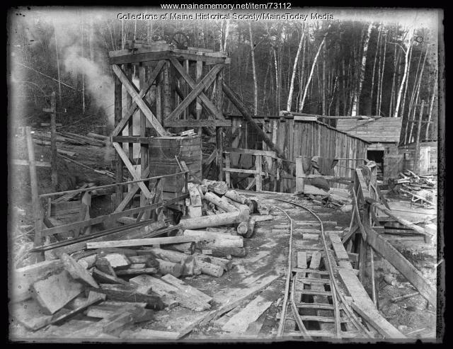 Portland Water District construction, Sebago Lake, ca. 1924