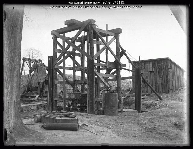 Water district construction, Sebago Lake, 1924