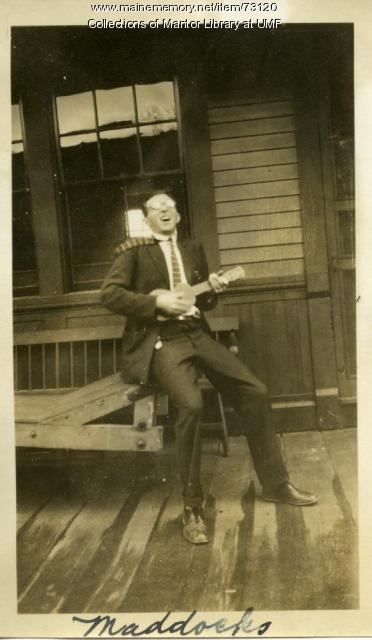 Ukelele Player, Wilton Railroad Station, ca. 1928
