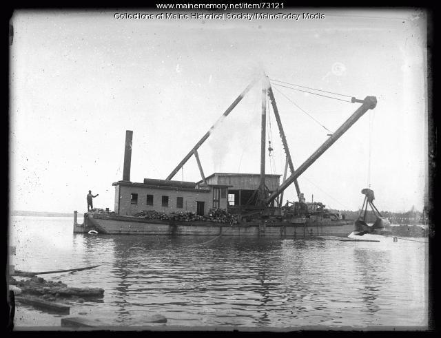 Portland Water District work, Sebago Lake, 1924