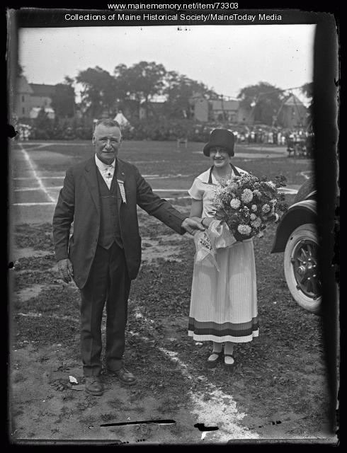 Granville R. Lee and Miss Portland, Deering Oaks, 1924