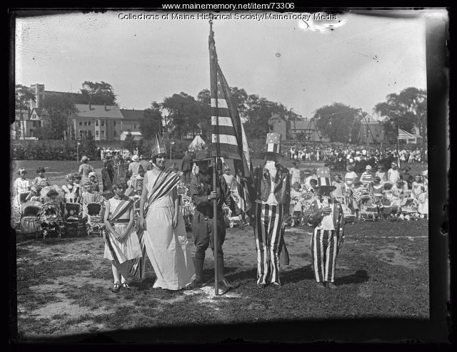 America, Yesterday and Today Pageant, Deering Oaks, 1924