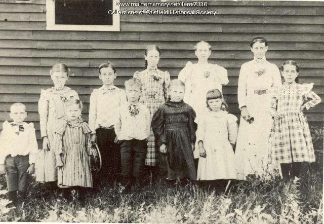Scribner Hill School, Otisfield, ca. 1898