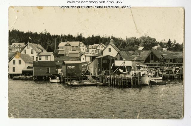 Barter's Wharf, Swan's Island, ca. 1940